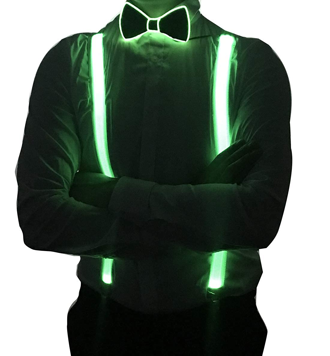 RaveLife Mens Light Up Novelty LED Suspenders for party Night Club Gift