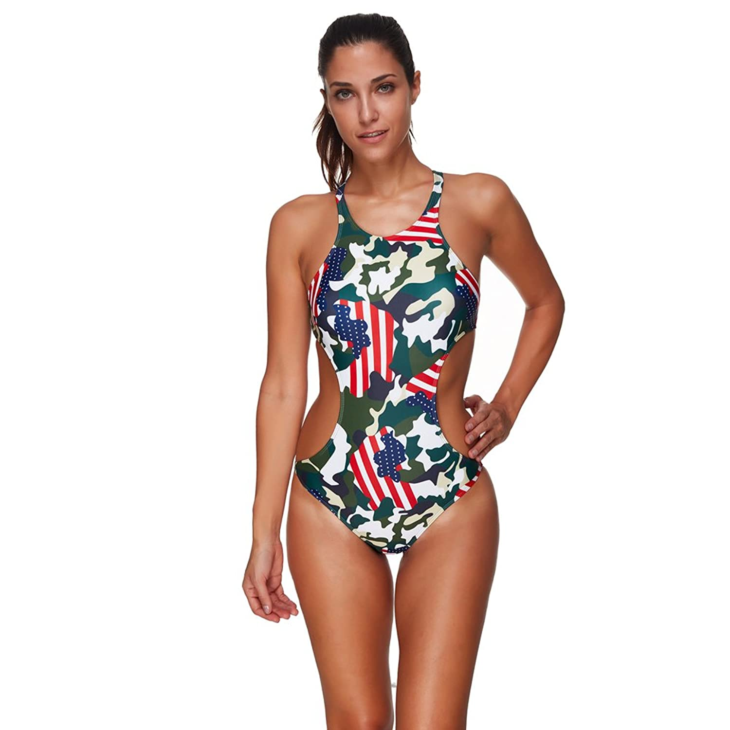 FeelinGirl Women's One Piece Bikini Dress Beachwear Swimsuit