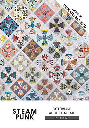 Steam Punk Steampunk Jen Kingwell Designs Quilt Pattern with Acrylic Templates by Jen kingwell Designs