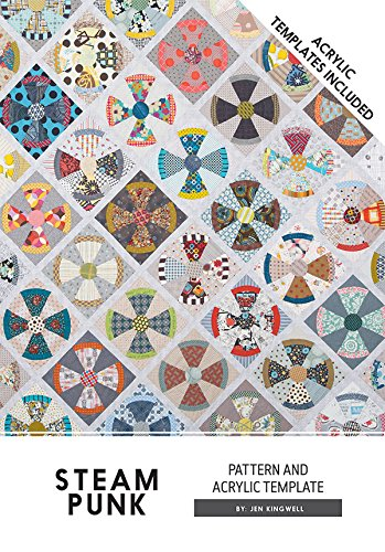 Steam Punk Steampunk Jen Kingwell Designs Quilt Pattern with Acrylic Templates