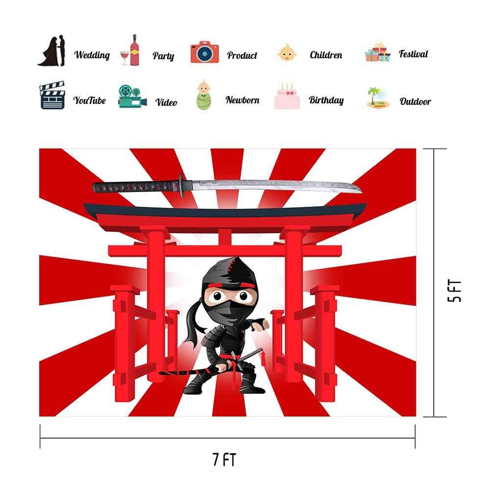 Amazon.com : Ninja Warrior Backdrop for Ninja Themed Party ...