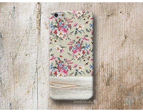 floral Bois Print Coque Étui Phone Case pour iPhone X XR XS MAX 4 4s 5 5se se 5C 5S 6 6s 7 Plus iPhone 8 Plus iPod 5 6