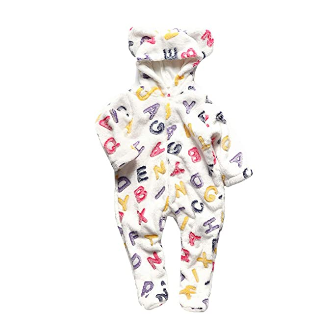 0935b01e6 Newborn Baby Girl Boys Winter Romper Jumpsuit 3-12 Months Mingfa ...