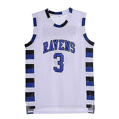 Mens Lucas Scott 3 Ravens Basketball Jersey Stitched Sports Movie Jersey White