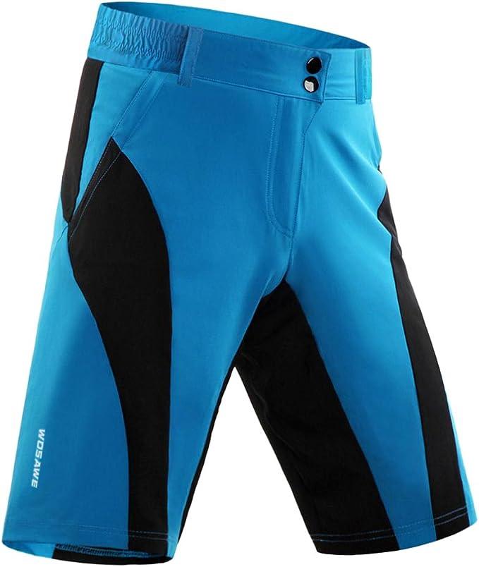Herren Fahrradsose kurz Reflektierend Radhose MTB Shorts Radshorts für