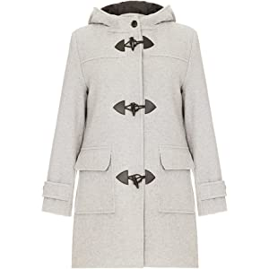 719892cb84e3 Amazon.com  Original Montgomery Womens Duffle Coat - Burgundy Size 6 ...