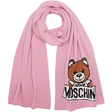 MOSCHINO - Echarpe - Femme Rose rose Taille unique  Amazon.fr ... b1fc204445a3
