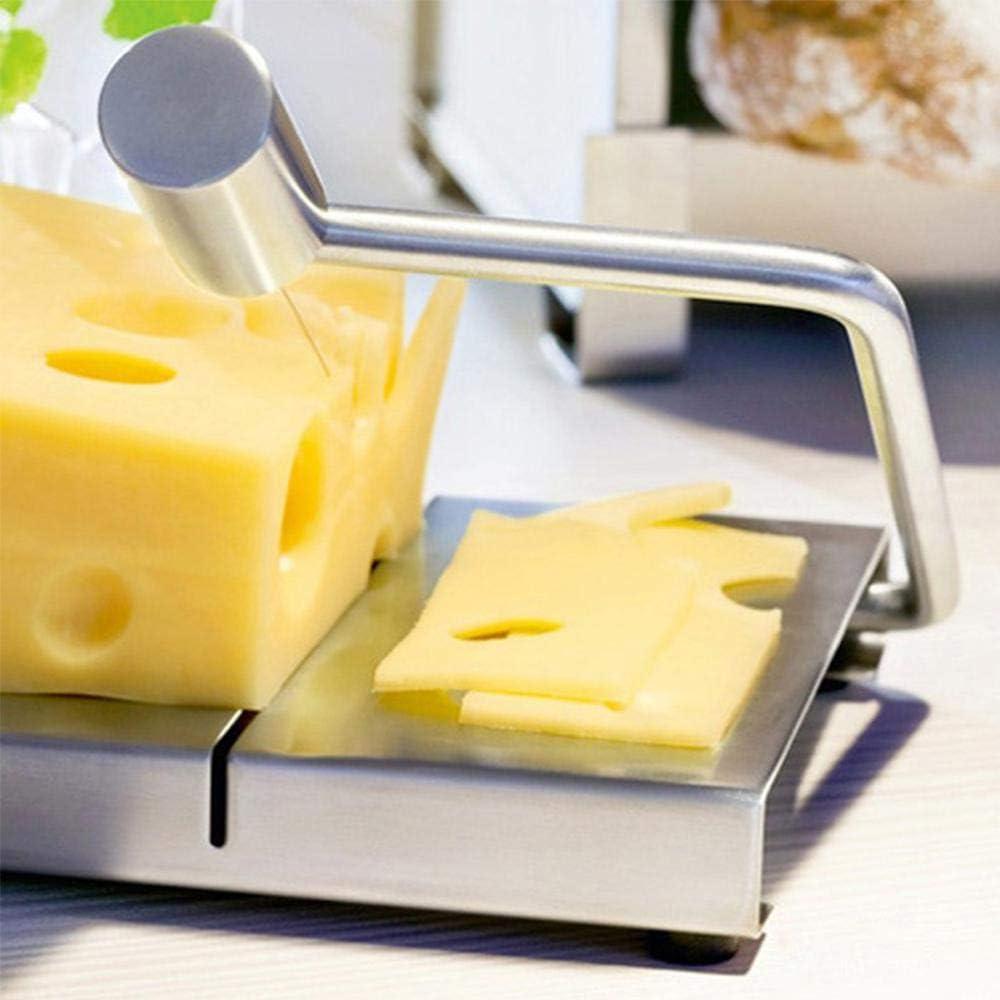 2 Pi/èces Coupe-Fromage Mi-Durs et Durs Outil de Cuisine pour Cuisinier de Cuisine Trancheuse /à Fromage en Fil en Acier Inoxydable d/Épaisseur R/églable pour Fromages /à P/âte Molle