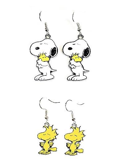 boucles d'oreille snoopy