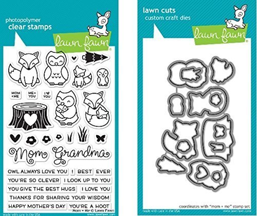 Lawn Fawn Mom + Me Clear Stamp and Die Set - Includes One Each of LF1134 Stamp & LF1135 Die - Bundle Of 2