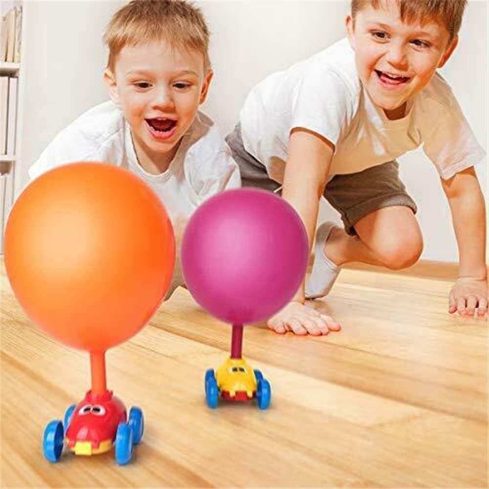 Inflatable Pump Balloon Inflator Aerodynamics Kids Gifts WDXUN Balloon Powered Car Balloon Launcher Tower 2-in-1 Suit A