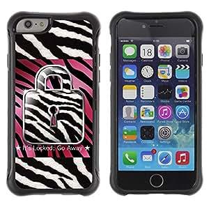 "Hypernova Defender Series TPU protection Cas Case Coque pour Apple Iphone 6 PLUS 5.5 [Zebra Rosa Blanco Negro Cita texto""]"
