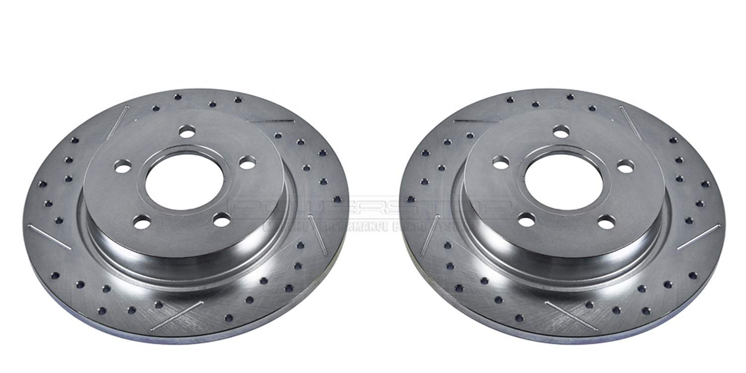 Power Stop AR85145XPR Rear Evolution Drilled /& Slotted Rotor Pair