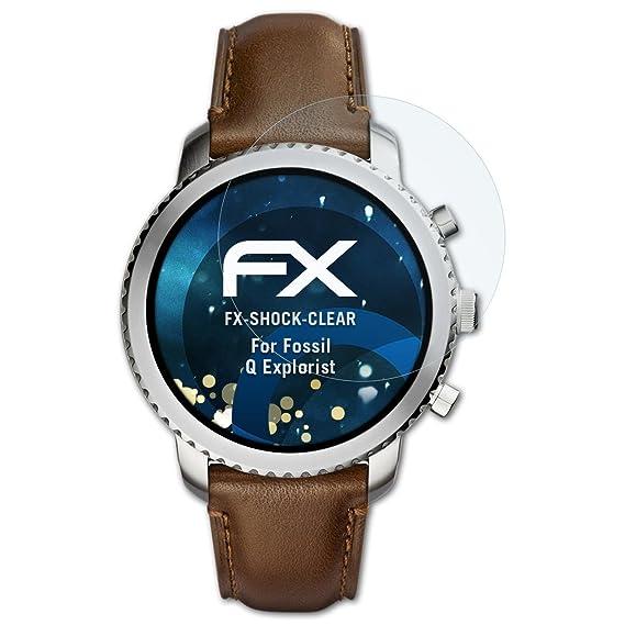 atFoliX Anti-Choc Film Protecteur Compatible avec Fossil Q Explorist Film Protecteur, Ultra Clair et Absorbant Les Chocs FX Protecteur décran (3X): ...