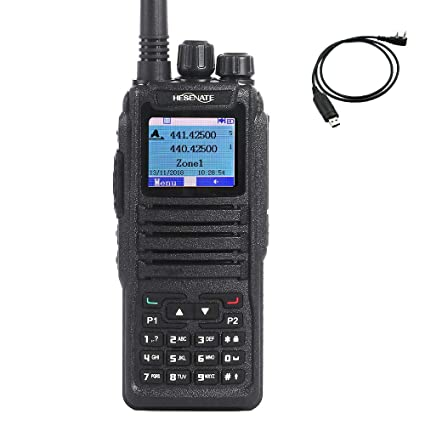 HESENATE DM-1701 Dual Band 136-174/400-480MHz Amateur Handheld Two Way  Radio Tier II DMR and Analog (HAM)