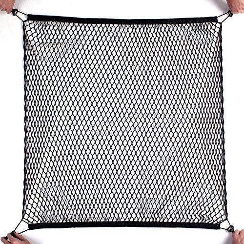 Kit de montaje trasero de almacenamiento Organizador de Carga Flexible Maletero Negro Nylon Net