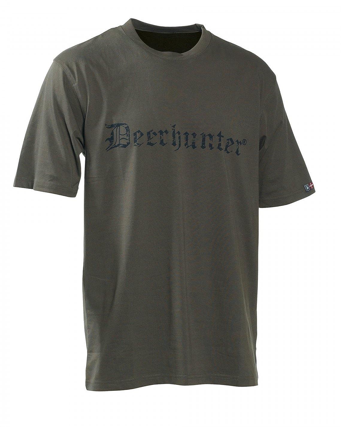 Deerhunter Camiseta de Manga Corta con Logo XXXXG: Amazon.es: Ropa y accesorios