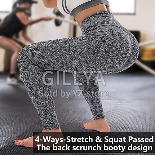 GILLYA Ruched Butt Yoga Pants Scrunch Butt Leggings for Women High Waisted Booty Lift Ruched Booty Leggings