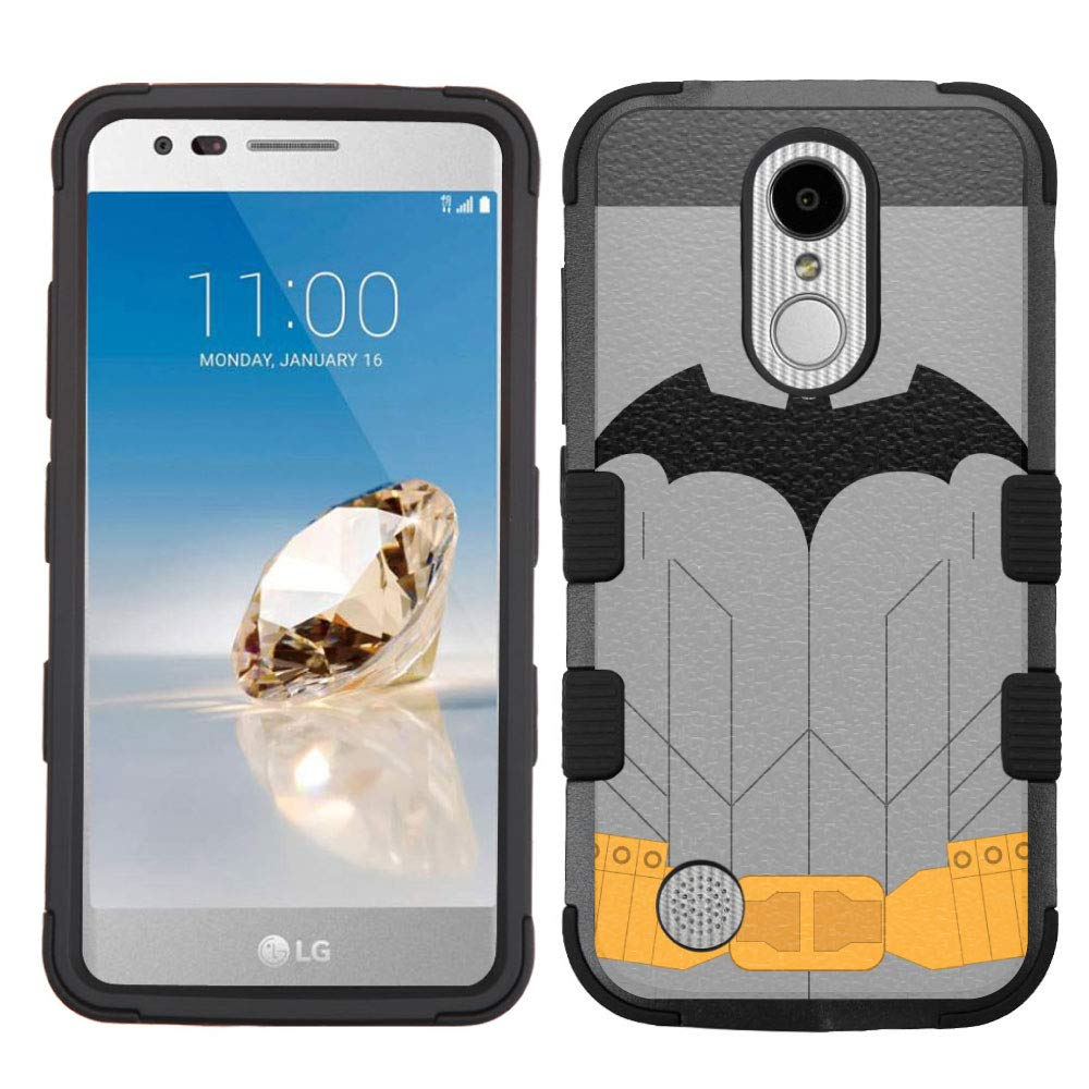 LG Aristo Case,LG Aristo 2 Case,LG Rebel 3 LTE Case,LG Aristo 2 Plus/LG Tribute Dynasty/Zone 4/Fortune 2/Phoenix 3/Rebel 2 LTE/K8+ Plus Case, Rugged Case - Batman Clothes #Z