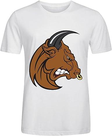 BoBull Ropa Camisetas Personalizadas Running New Tee SS - Camiseta de San Fermín Corrida de Toros de Casual para Hombre Blanco: Amazon.es: Ropa y accesorios