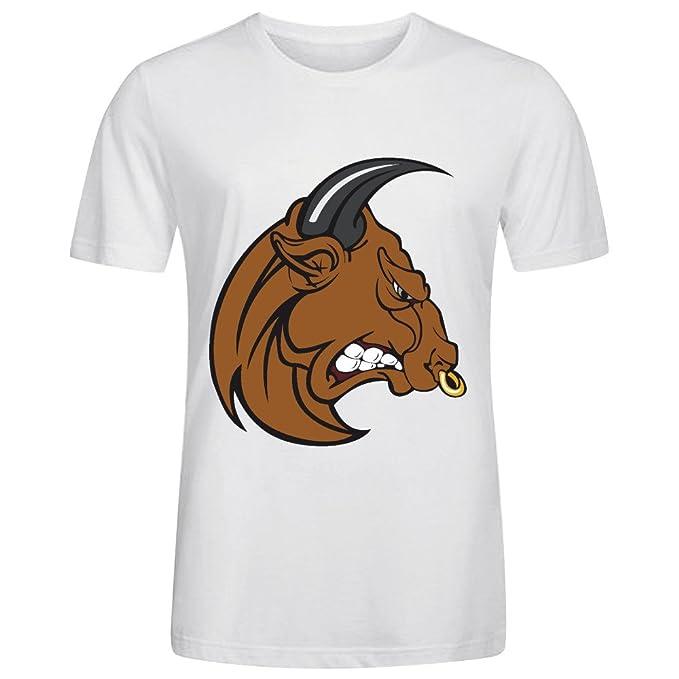 BoBull Ropa Camisetas Personalizadas Running New Tee SS - Camiseta de San Fermín Corrida de Toros