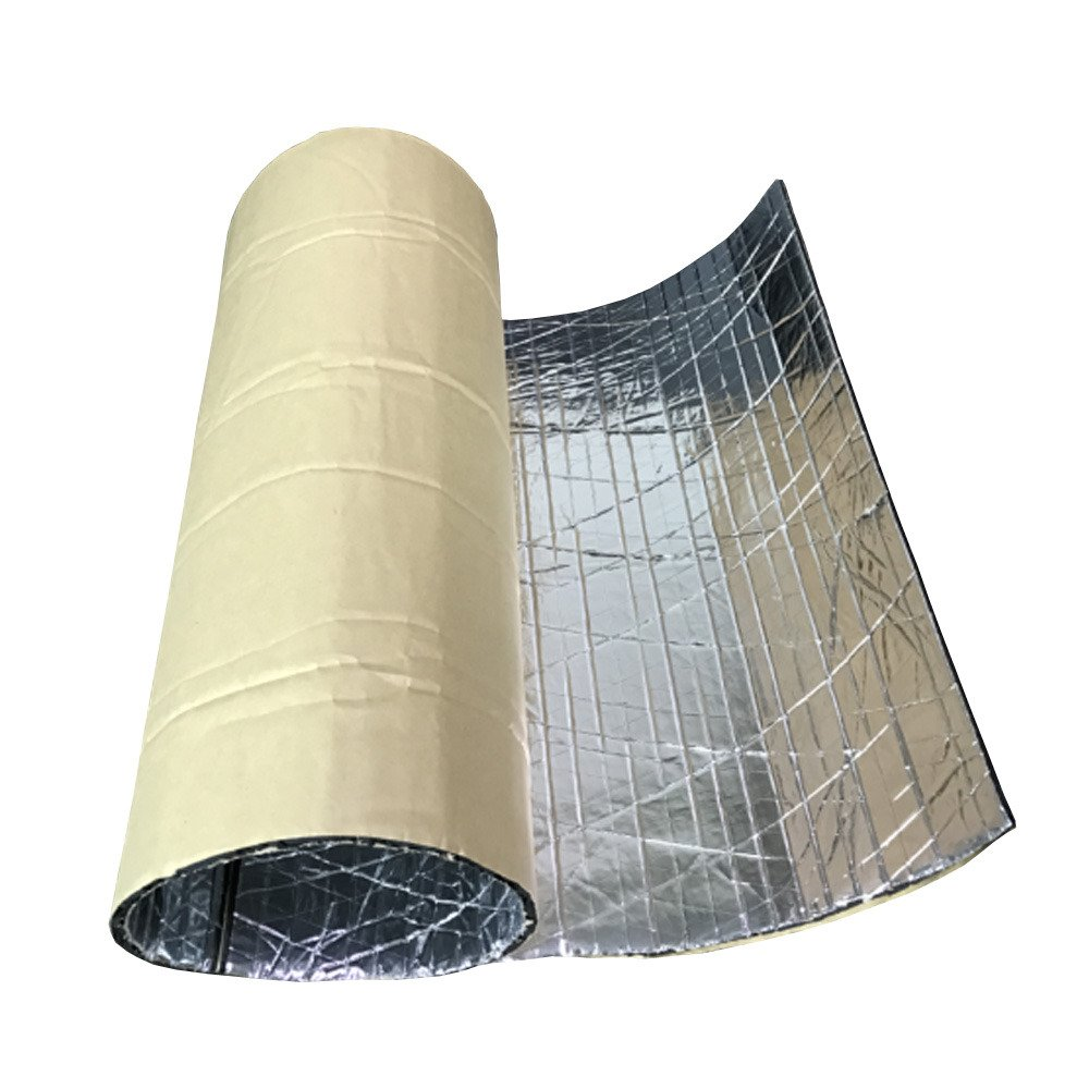 HOUTBY 2Roll 5mm Car Sound Proofing Deadening Insulation Closed Cell Foam Noise Glass Fibre Soundproof 50cm X 100cm