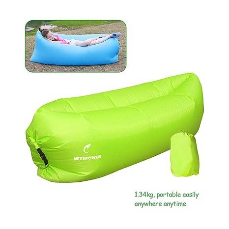 Playa tumbona, fourling Tartán tejido de nylon hinchable interiores y exteriores Sacos de dormir cómodo de ...