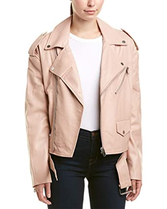 really comfortable fashionablestyle classic style Walter Baker Womens Hope Leather Jacket, S Rose Pink at ...