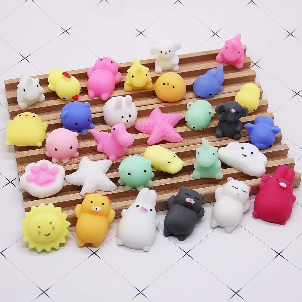 30PCS Slow Rising Squishy Toy Soft Mini Squishies Stress Toys Sea Animals