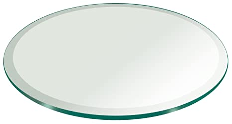 Amazon Com 24 Inch Round Glass Table Top 3 8 Thick Tempered