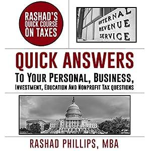 Rashad's Quick Course on Taxes Audiobook