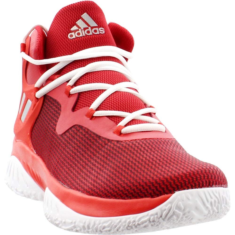 Scarlet-argent Metallic-rouge Adidas Explosive Bounce Chaussures Athlétiques