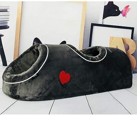 JLFDHR Soft Cat Cave House Casa cálida para Gatitos Dormir ...