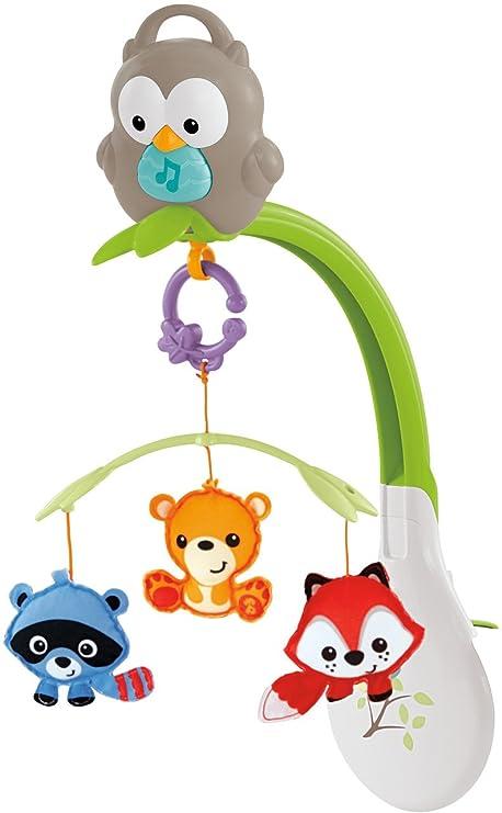 Fisher Price Móvil musical 3 en 1, juguete y proyector de cuna ...
