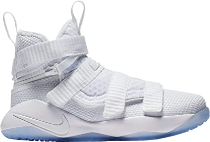 promo code b3968 1017a Image Unavailable. Image not available for. Color  NIKE Kid s Preschool Lebron  Soldier XI Flyease Basketball Shoes ...