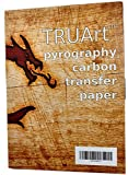 TRUArt Single Sided Carbon Transfer Black Tracing Paper for Woodworking and Transferring or Mirroring Wood Burning Patterns - 100 Sheets (Black)