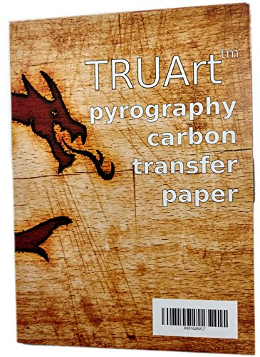 TRUArt Two Sided Carbon Transfer Blue Tracing Paper for Woodworking and Transferring or Mirroring Wood Burning Patterns - 100 Sheets (Blue) (Paper Doll Panel)