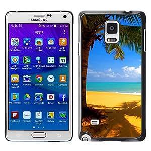 Smartphone Rígido Protección única Imagen Carcasa Funda Tapa Skin Case Para Samsung Galaxy Note 4 SM-N910F SM-N910K SM-N910C SM-N910W8 SM-N910U SM-N910 Yellow beach / STRONG