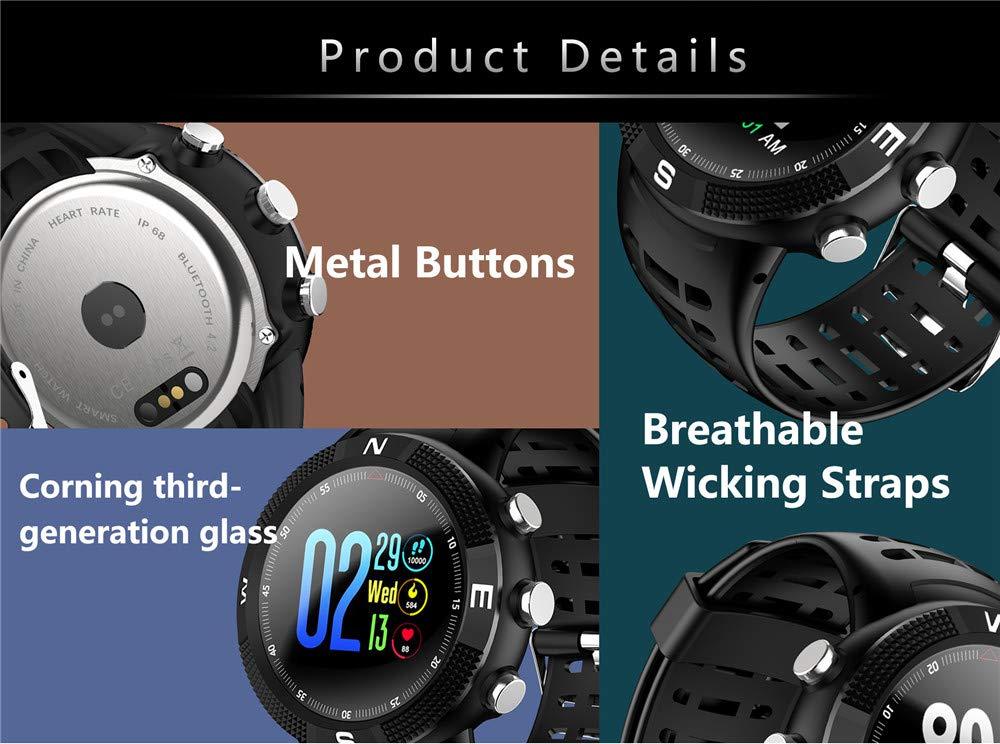 CJM Pantalla 3D F18 Reloj Inteligente Ritmo cardíaco Nivel al Aire ...