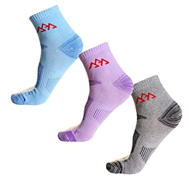 Evedaily 3 Pack Breathable Ankle Support Socks Mountain Sports Climbing Hiking Sock for Men and Women