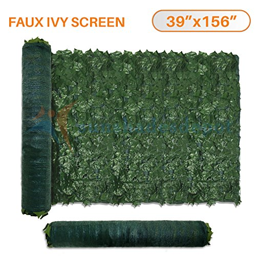 Sunshades Depot 39″ x 156″ Artificial Faux Ivy Privacy Fence Screen Leaf Vine Decoration Panel with Mesh Back For Sale