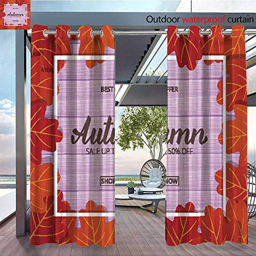 Outdoor- Free Standing Outdoor Privacy Curtain Autumn--Sale-banner-with-oak-leaves-frame-and-trendy-Autumn-brush-lettering--Seasonal-Fall-sale-card.jpg for Front Porch Covered Patio Gazebo Dock Beac