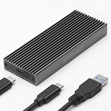 Wanfocyu M.2 SSD NGFF a USB3.1 Adaptador de Carcasa de Aluminio ...
