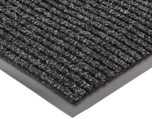 NoTrax 117 Heritage Rib Entrance Mat, for Lobbies and Indoor Entranceways, 4' Width x 6' Length x 3/8