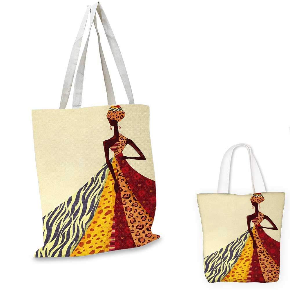 モダンなアフリカの女の子 異なるデザインのドレスを着た姿勢 絵柄 アートプリント マルチカラー 14