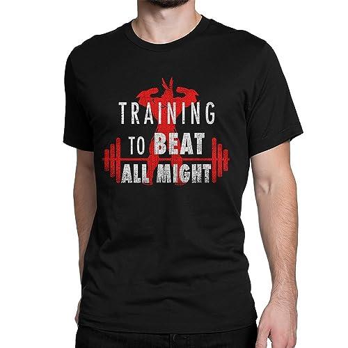 f43569223c16d Amazon.com  Training to beat All Might T-Shirt  Handmade