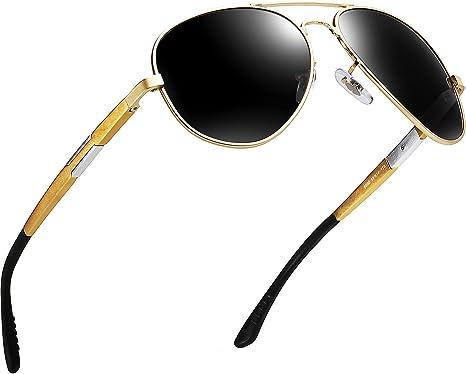 ATTCL Hombres Polarizadas Gafas De Sol Súper Ligero Al-Mg Marco De Metal
