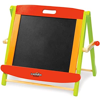 Little Artists 3-in-1 Tabletop Easel | Wooden Wonders Dry Erase Whiteboard, Chalkboard, and Magnetic Board for Kids Creative Art and Drawing | Great Art Class School Teacher Learning Activity: Arts, Crafts & Sewing