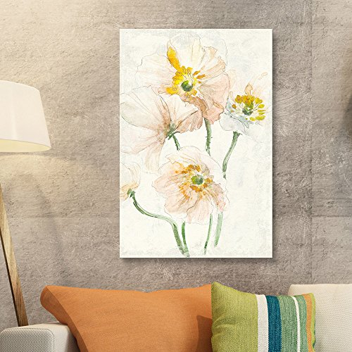 Watercolor Style Flowers on Grunge Background