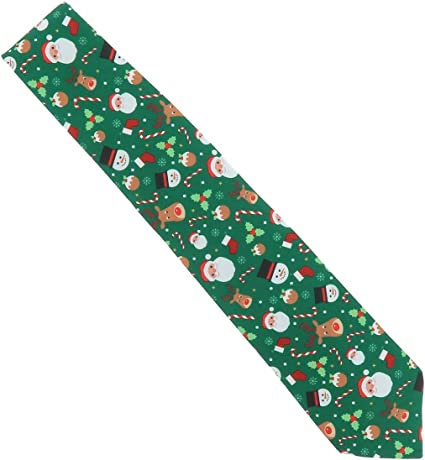 Cravate R/éveillon SHIPITNOW Cravate Noel Jacquard Verte Cravate Papa Noel Cravate P/ère Noel Sapin de No/ël et Bonhomme de Neige Rennes